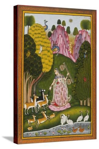 Todi Ragini, Second Wife of Hindol Raga--Stretched Canvas Print