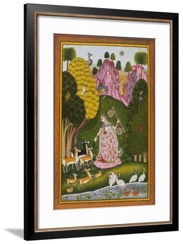 Todi Ragini, Second Wife of Hindol Raga--Framed Art Print