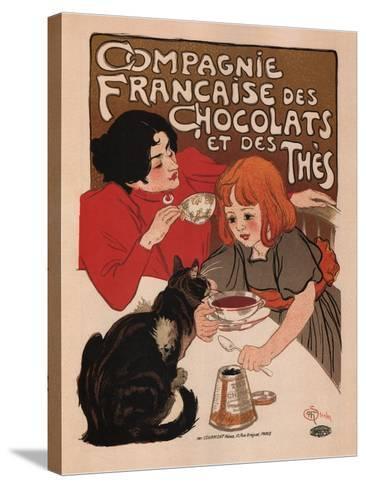 Compagnie Francaise Des Chocolats Et Des Thes-Theophile Alexandre Steinlen-Stretched Canvas Print