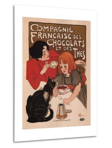 Compagnie Francaise Des Chocolats Et Des Thes-Theophile Alexandre Steinlen-Metal Print