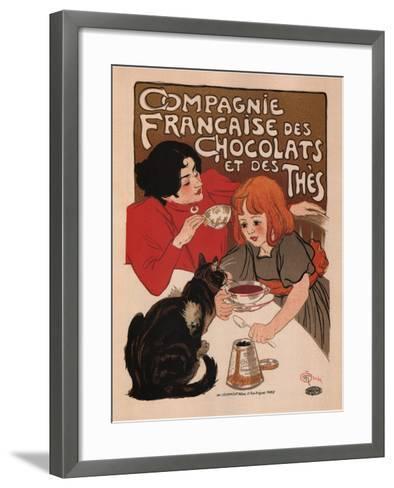 Compagnie Francaise Des Chocolats Et Des Thes-Theophile Alexandre Steinlen-Framed Art Print