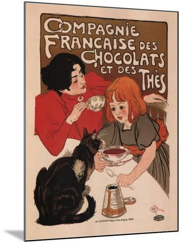 Compagnie Francaise Des Chocolats Et Des Thes-Theophile Alexandre Steinlen-Mounted Art Print