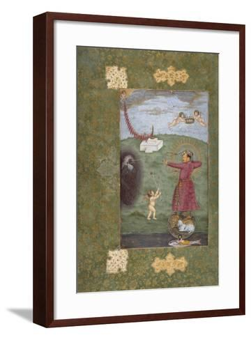 Emperor Jahangir Triumphing over Poverty--Framed Art Print