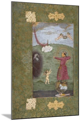 Emperor Jahangir Triumphing over Poverty--Mounted Art Print