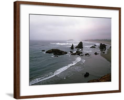 Rocky Oregon Coast-Carol Highsmith-Framed Art Print