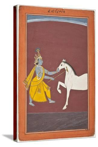 Krishna Destroys the Horse Demon Keshi--Stretched Canvas Print