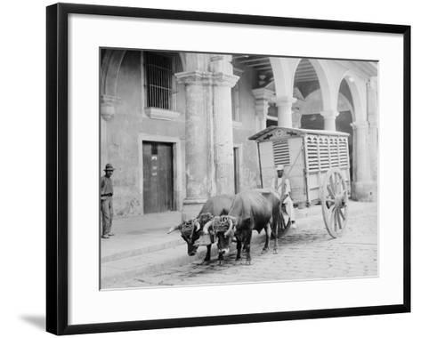 Meat Wagon, Havana, Cuba--Framed Art Print