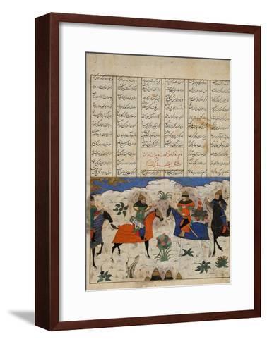 Meeting of Two Muslim Generals--Framed Art Print