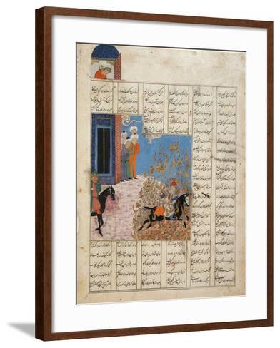 Fire Ordeal of Siyavush--Framed Art Print