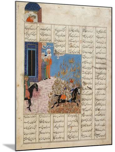Fire Ordeal of Siyavush--Mounted Art Print