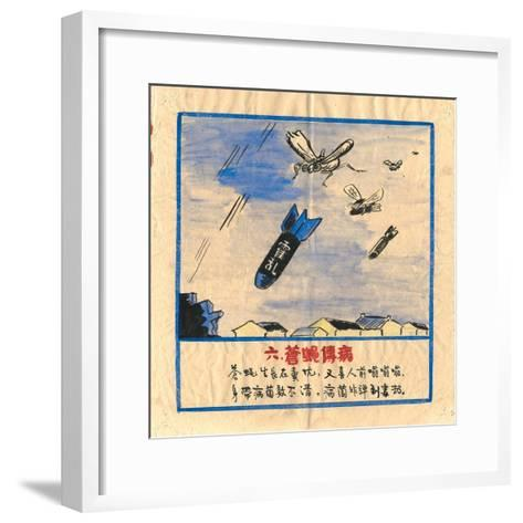 Flies are Bombs, They Spread Cholera and Disease--Framed Art Print