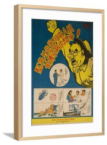 Malaria, Typhoid, Smallpox and Other Infectious Disease are Battled--Framed Art Print