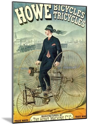 Howe, Bicycles, Tricycles-F. Appel-Mounted Art Print