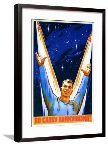 For the Glory of Communism--Framed Art Print
