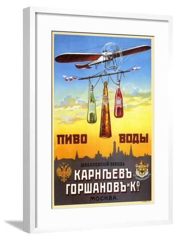 Beer and Waters - Bottled Drinks from Karneyev-Gorshanov and Co.--Framed Art Print