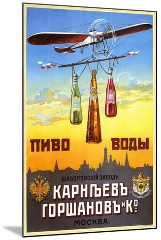 Beer and Waters - Bottled Drinks from Karneyev-Gorshanov and Co.--Mounted Art Print