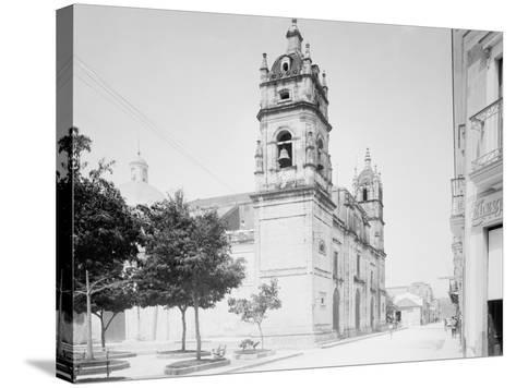 Cathedral and Jovellanos St., Matanzas, Cuba--Stretched Canvas Print