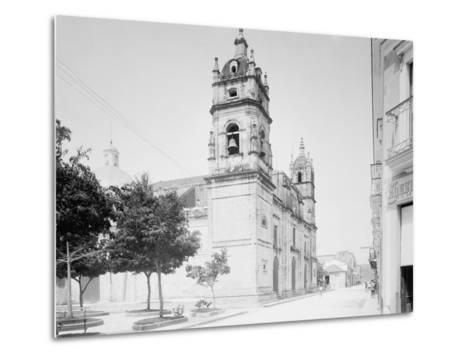 Cathedral and Jovellanos St., Matanzas, Cuba--Metal Print