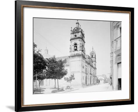 Cathedral and Jovellanos St., Matanzas, Cuba--Framed Art Print