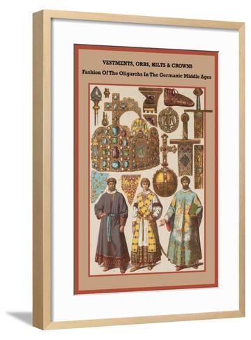 Vestments, Orbs, Hilts and Crowns in the Germanic Middle Ages-Friedrich Hottenroth-Framed Art Print