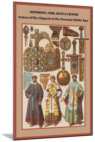 Vestments, Orbs, Hilts and Crowns in the Germanic Middle Ages-Friedrich Hottenroth-Mounted Art Print