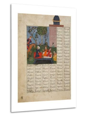 Bahram Gur and the Farmer's Family--Metal Print