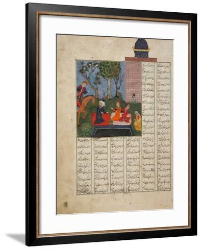 Bahram Gur and the Farmer's Family--Framed Art Print