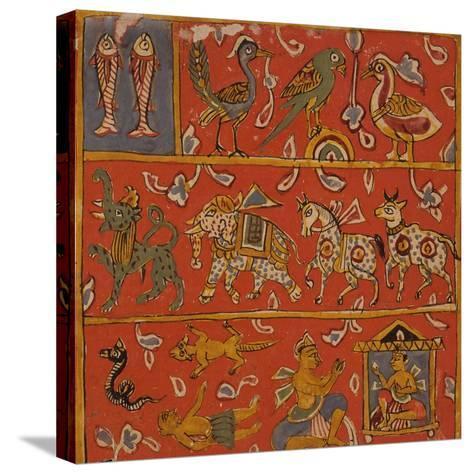 Symbolic Animals--Stretched Canvas Print