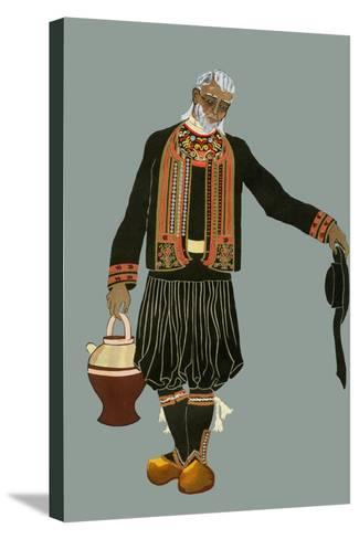 A Breton Farmer-Elizabeth Whitney Moffat-Stretched Canvas Print