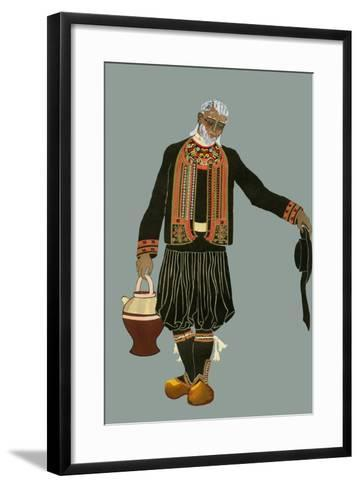 A Breton Farmer-Elizabeth Whitney Moffat-Framed Art Print