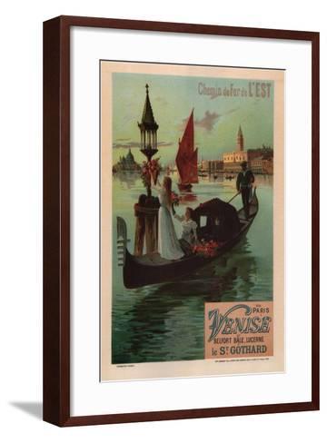 Eastern Railroad Line (1890)-Friedrich Hugo D'Alesi-Framed Art Print