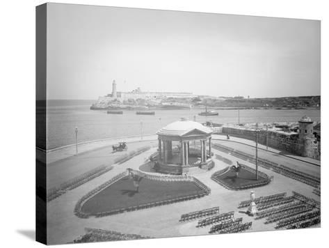 Malecon and El Morro, Havana, Cuba--Stretched Canvas Print
