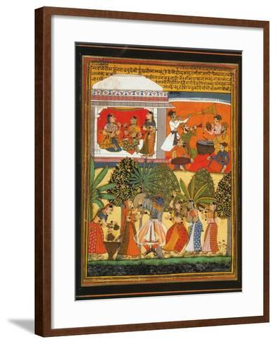 Krishna Dances with the Gopis--Framed Art Print