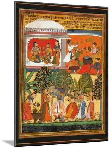 Krishna Dances with the Gopis--Mounted Art Print