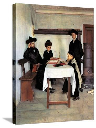 Sabbath Day-Isidor Kaufmann-Stretched Canvas Print