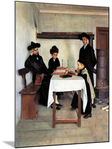 Sabbath Day-Isidor Kaufmann-Mounted Art Print