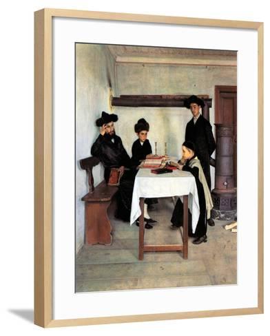Sabbath Day-Isidor Kaufmann-Framed Art Print