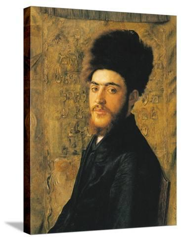 Man with Fur Hat-Isidor Kaufmann-Stretched Canvas Print