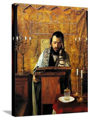 Mourning the Dead-Isidor Kaufmann-Stretched Canvas Print