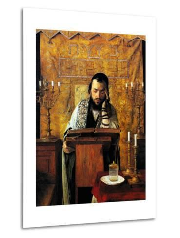 Mourning the Dead-Isidor Kaufmann-Metal Print