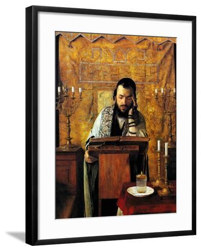 Mourning the Dead-Isidor Kaufmann-Framed Art Print