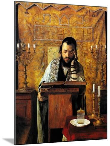 Mourning the Dead-Isidor Kaufmann-Mounted Art Print