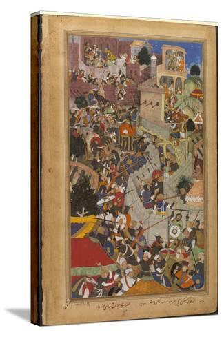 The Fall of the Rajasthani Fortress of Chitor--Stretched Canvas Print