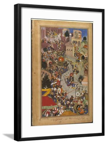 The Fall of the Rajasthani Fortress of Chitor--Framed Art Print