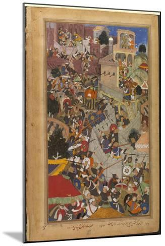 The Fall of the Rajasthani Fortress of Chitor--Mounted Art Print