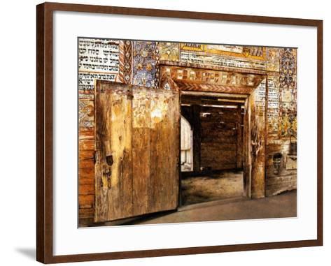 Portal of the Rabbis-Isidor Kaufmann-Framed Art Print