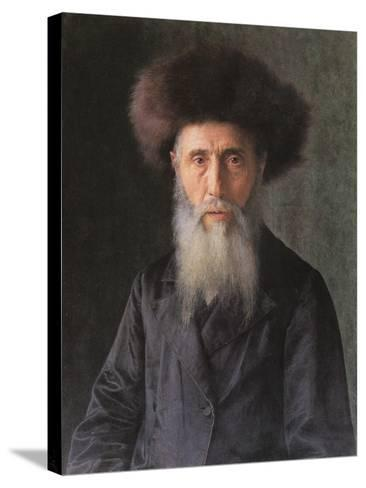 Portrait of a Rabbi-Isidor Kaufmann-Stretched Canvas Print