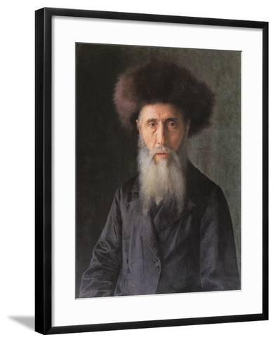 Portrait of a Rabbi-Isidor Kaufmann-Framed Art Print