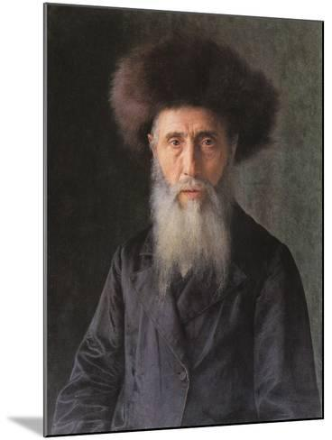 Portrait of a Rabbi-Isidor Kaufmann-Mounted Art Print