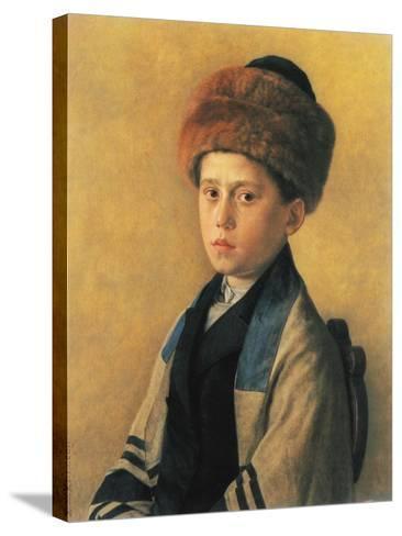 Portrait of a Young Boy-Isidor Kaufmann-Stretched Canvas Print